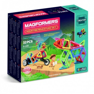 Magformers Mountain Adventure Set 32 Piece - STEAM Kids Brisbane