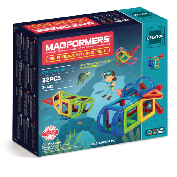 Magformers Sea Adventure 32 Set - STEAM Kids Brisbane
