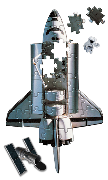 Heebie Jeebies Space Shuttle 36 Piece Shaped Giant Floor Puzzle - STEAM Kids Brisbane