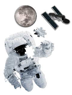Heebie Jeebies Astronaut Shaped 36 Piece Giant Floor Puzzle - STEAM Kids Brisbane