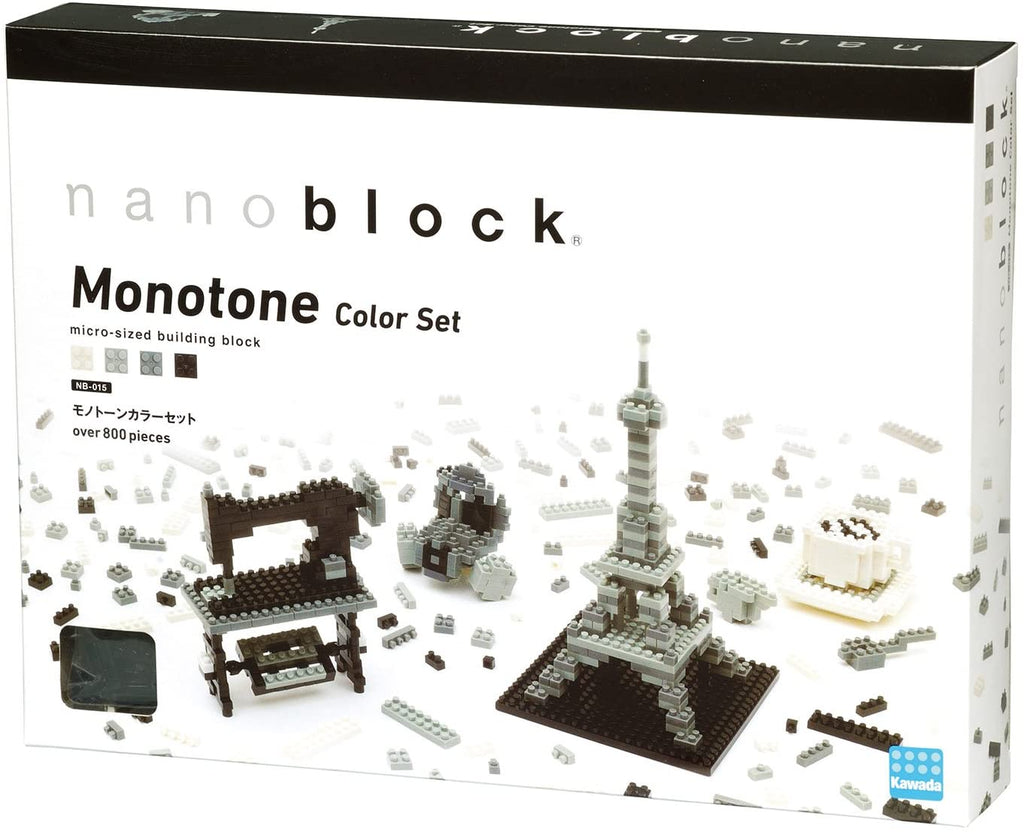 Nanoblock Monotone Colour Set NB-015 - STEAM Kids Brisbane
