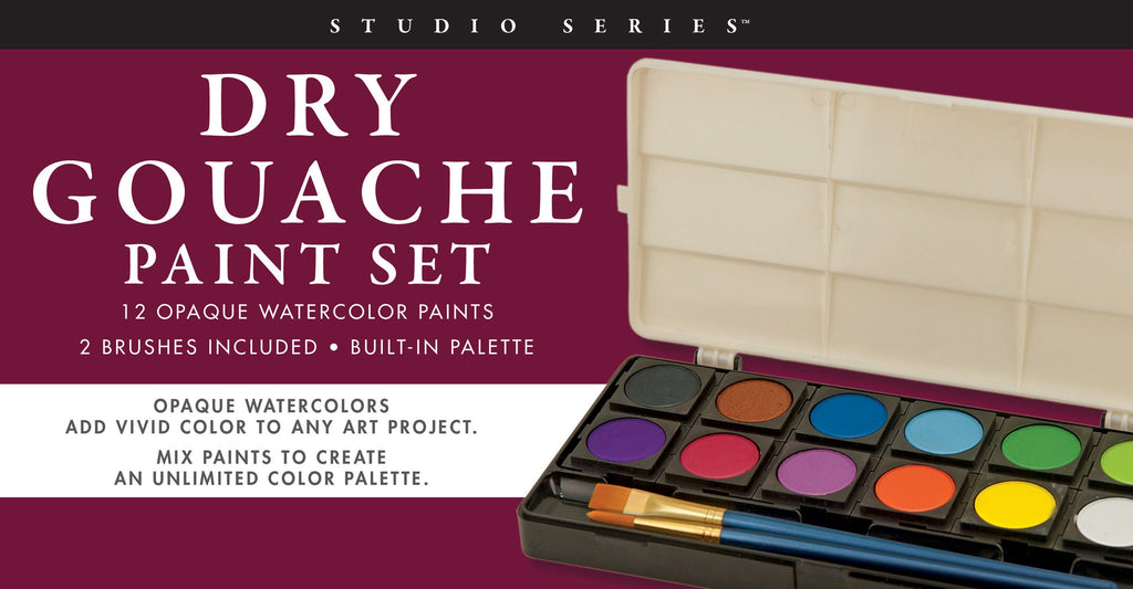 Studio Series Dry Gouache Paint Set (12 opaque watercolor paints) - STEAM Kids Brisbane