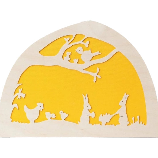De Noest Silhouette Plate: Easter Yellow - STEAM Kids Brisbane