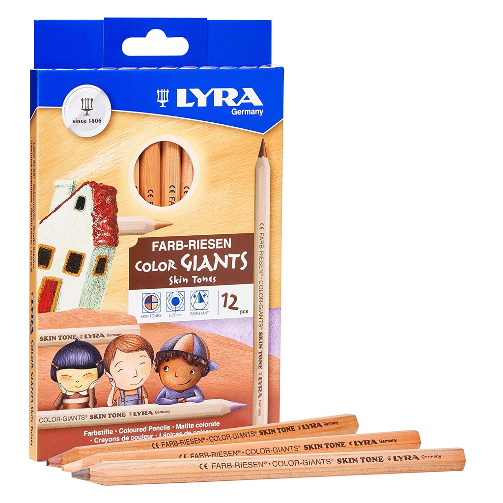 Lyra Color Giants Skin Tone Pencils Set of 12 - STEAM Kids Brisbane