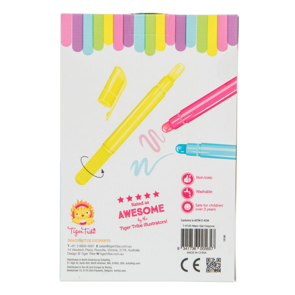 Neon Gel Crayons | Tiger Tribe - STEAM Kids