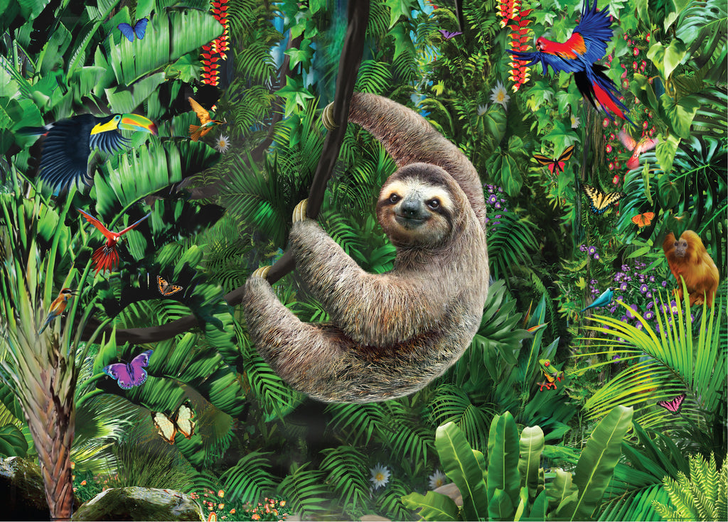 Sloth 1000 Piece Jigsaw Puzzle | Peter Pauper Press - STEAM Kids Brisbane