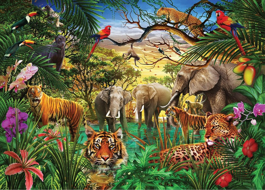 Jungle Life 1000 Piece Puzzle by Peter Pauper Press - STEAM Kids Brisbane