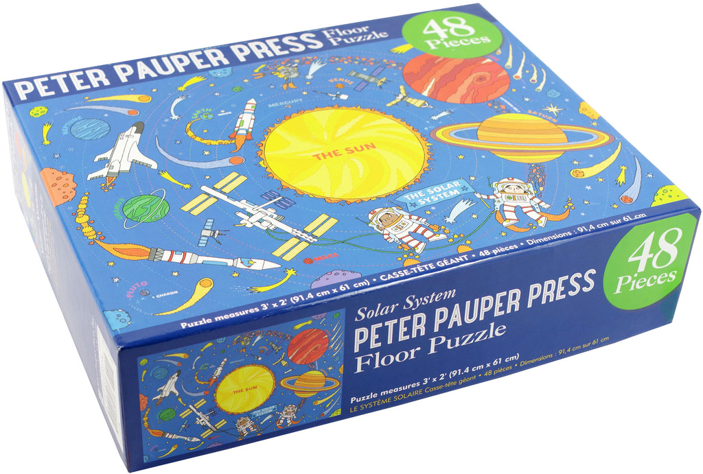 Peter Pauper Press Floor Puzzle 48 Piece Solar System - STEAM Kids Brisbane