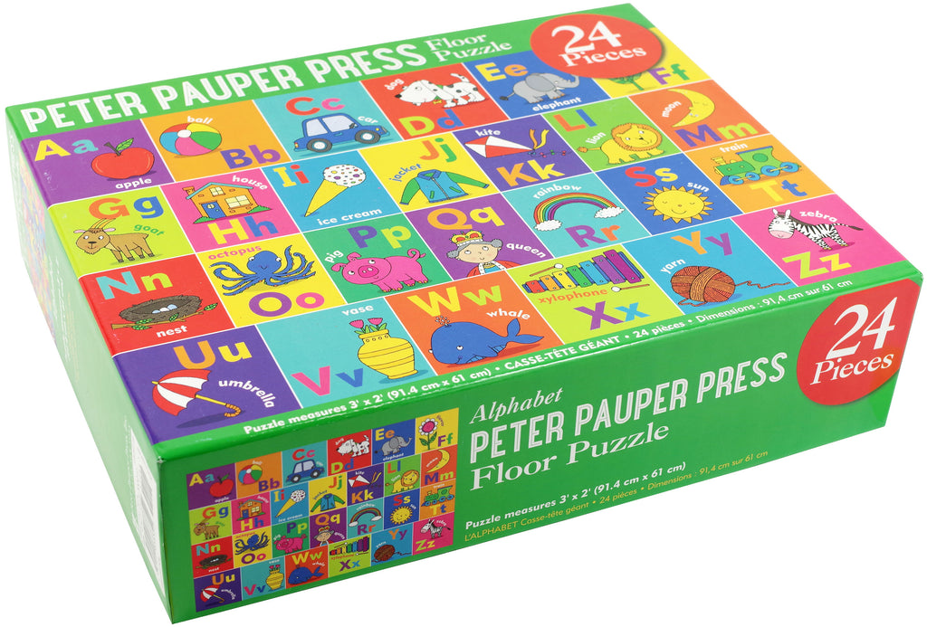 Peter Pauper Press Floor Puzzle 24 Piece Alphabet - STEAM Kids Brisbane