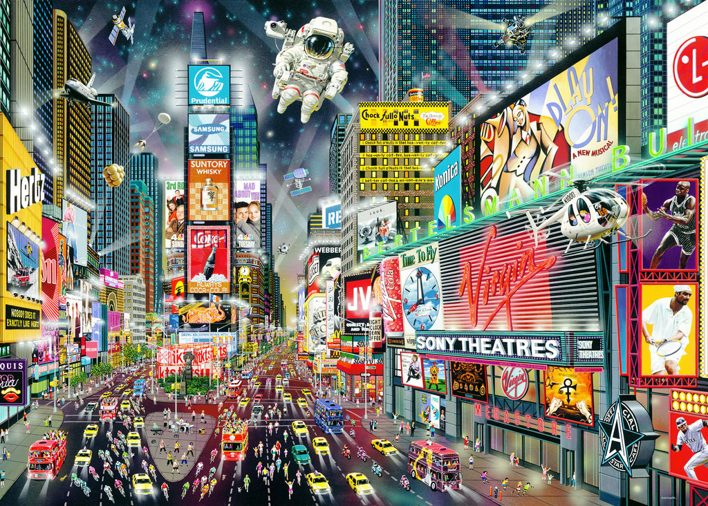 {BACK IN AUGUST} Times Square 1000 Piece Jigsaw Puzzle - STEAM Kids Brisbane