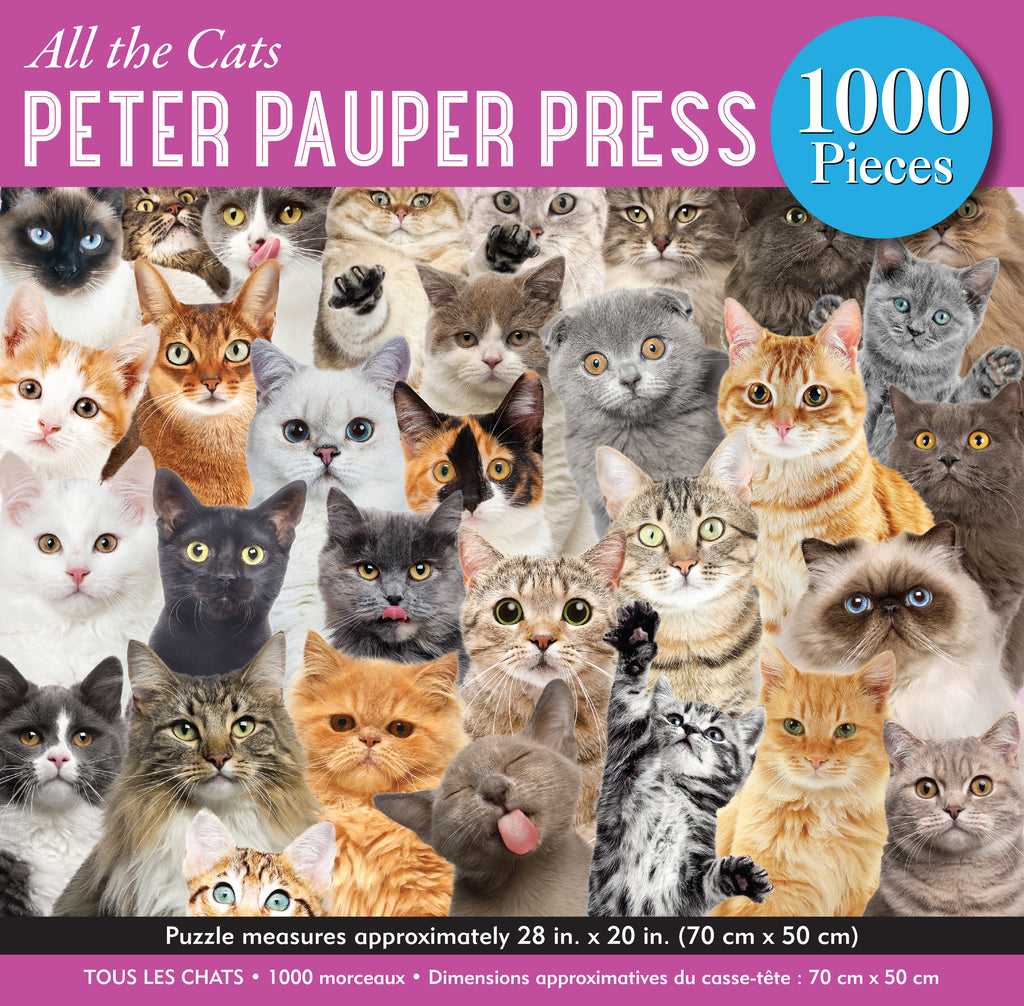 All the Cats 1000 Piece Puzzle |Peter Pauper Press| - STEAM Kids Brisbane