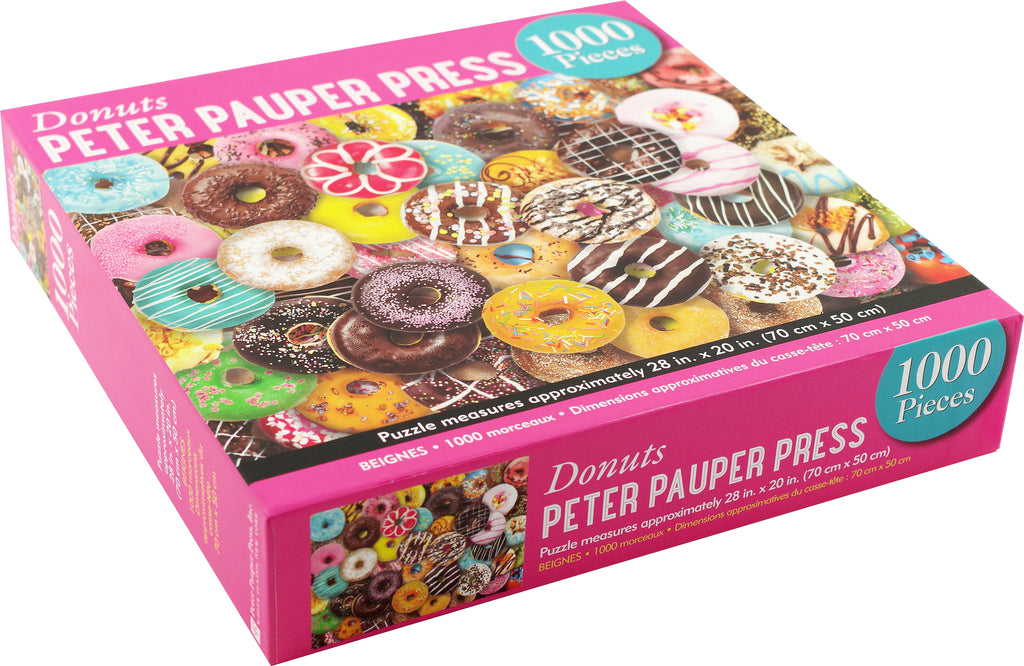{BACK IN AUGUST} Donuts 1000 Piece Puzzle by Peter Pauper Press - STEAM Kids Brisbane