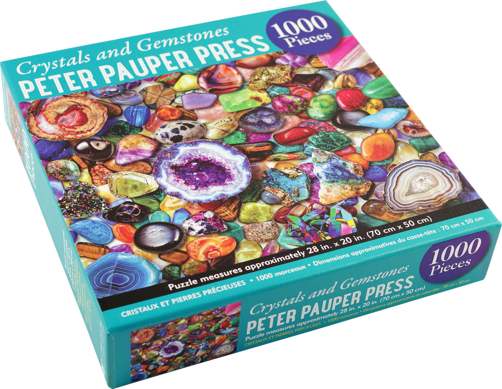 Crystals and Gemstones 1000 Piece Puzzle |Peter Pauper Press| - STEAM Kids