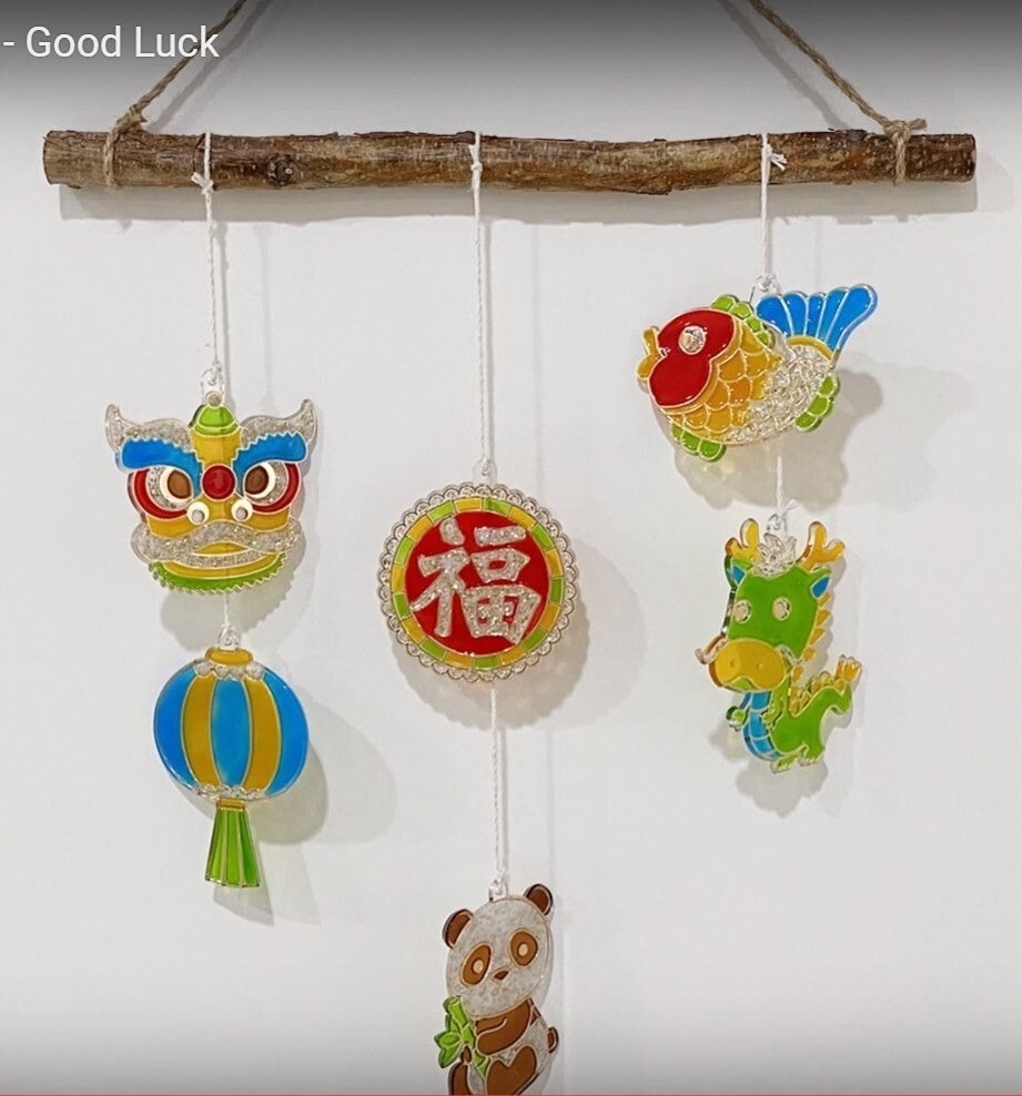 Amos Sun Deco Good Luck Suncatcher Kit| 6 paints | - STEAM Kids Brisbane