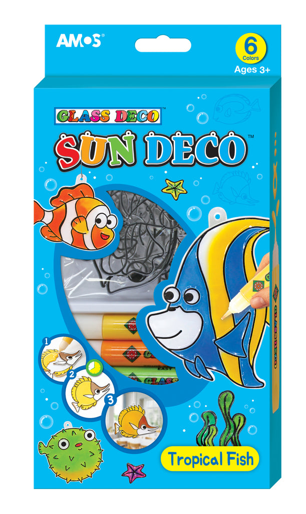 Amos Sun Deco Kit including 6 paints - Tropical Fish - STEAM Kids Brisbane