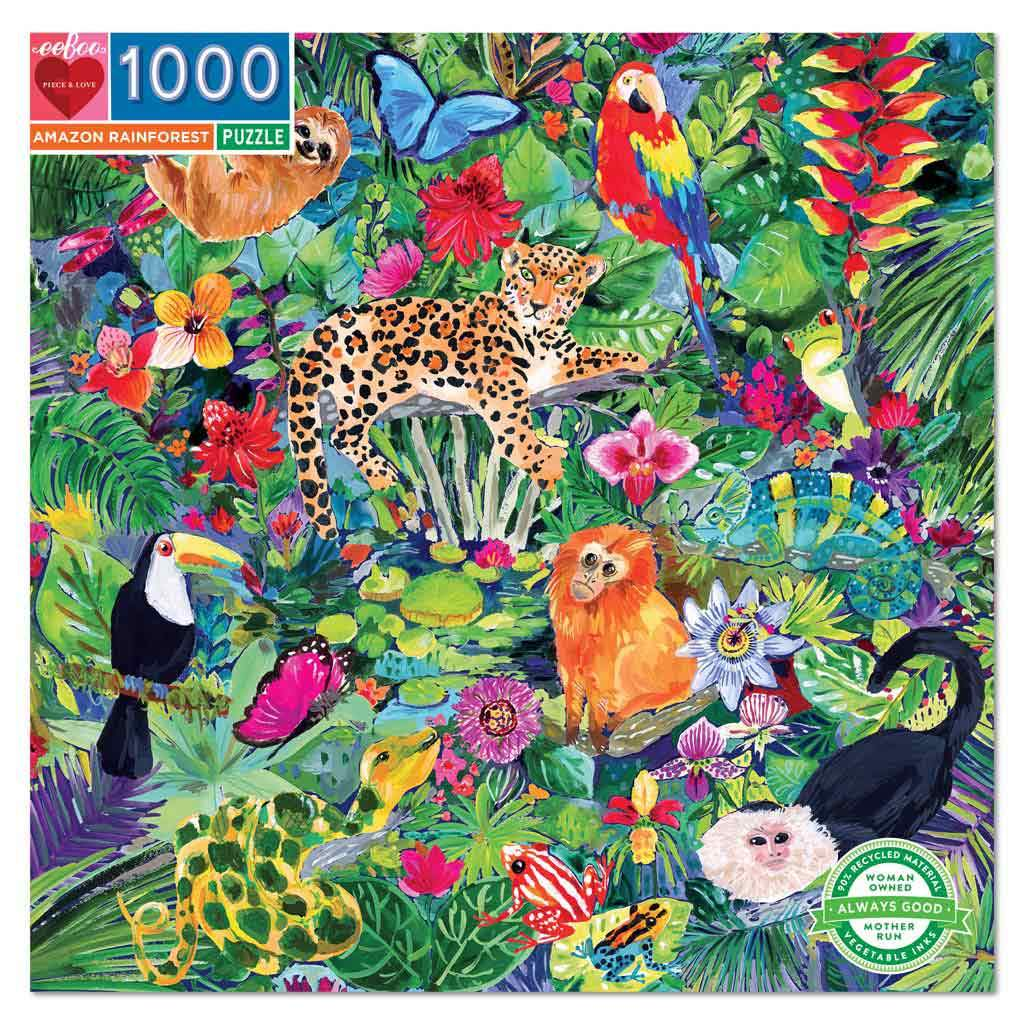 eeBoo Amazon Rainforest 1000 Piece Puzzle - STEAM Kids Brisbane