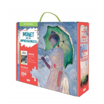 Sassi Monet and the Impressionists Book and 300 piece puzzle - STEAM Kids Brisbane