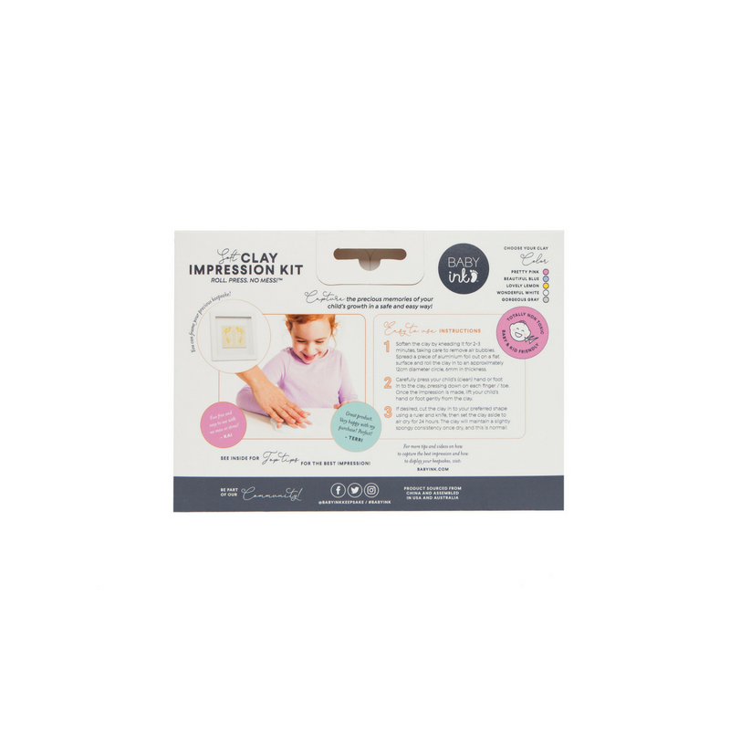 Baby Ink Soft Clay Impression Kit Beautiful Blue - STEAM Kids