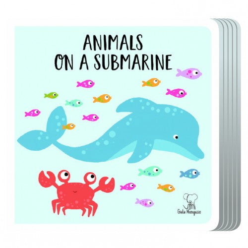 Sassi Travel Giant Puzzle and Book - Animals On a Submarine, 20 pcs - STEAM Kids Brisbane