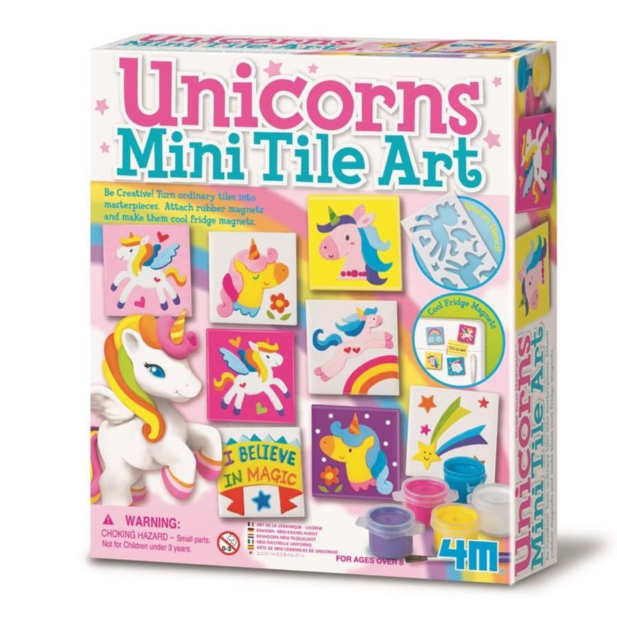 Unicorns Mini Tile Art Kit | 4M | - STEAM Kids