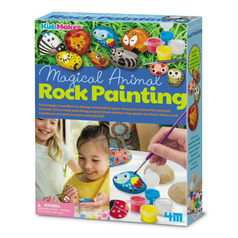 KidzMaker Magical Animal Rock Painting | 4M - STEAM Kids
