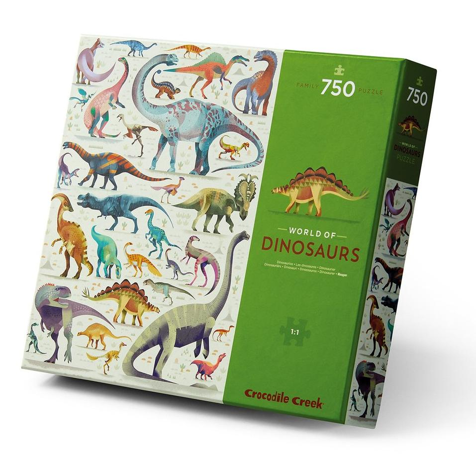 World of Dinosaurs Puzzle 750 piece - Crocodile Creek - STEAM Kids
