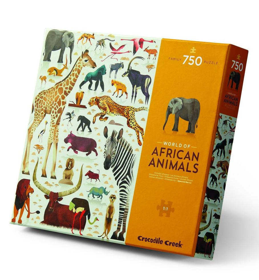 World of African Animals Puzzle 750 piece - Crocodile Creek - STEAM Kids