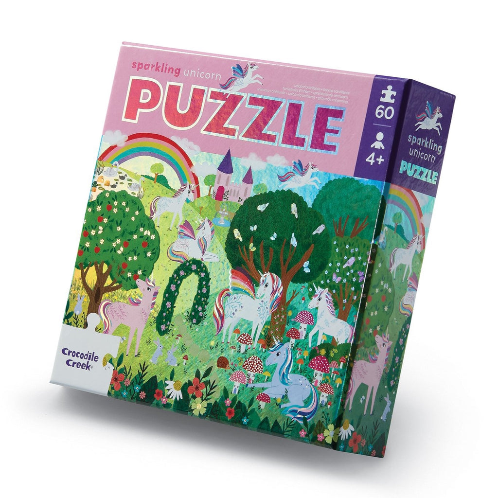 Crocodile Creek - Sparkling Unicorn 60 piece Puzzle - STEAM Kids