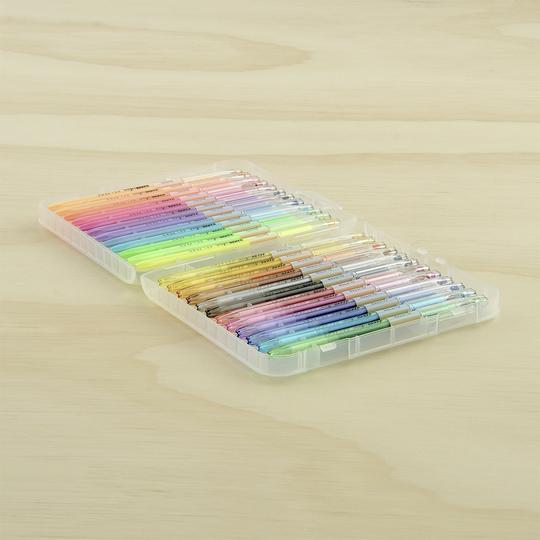 Kaisercraft Gel Pen Box of 24 | Pastel & Glitter Colours | - STEAM Kids
