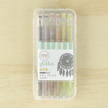Kaisercraft Gel Pen Box of 12 | Glitter Colours | - STEAM Kids Brisbane