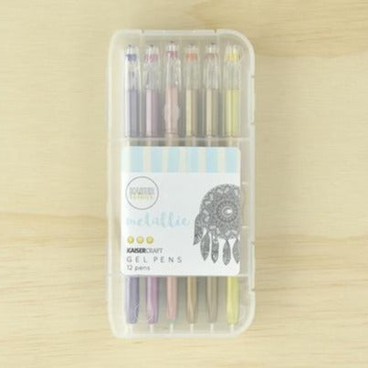 Kaisercraft Gel Pen Box of 12 | Metallic Colours | - STEAM Kids Brisbane