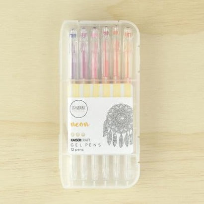 Kaisercraft Gel Pen Box of 12 | Neon Colours | - STEAM Kids Brisbane