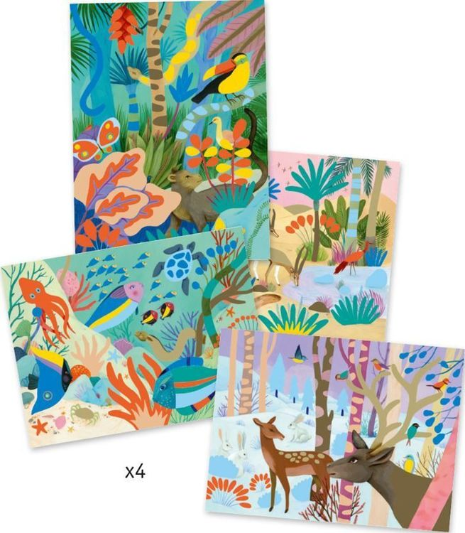 Djeco Gouaches Natural World Art by Number Kit - STEAM Kids Brisbane