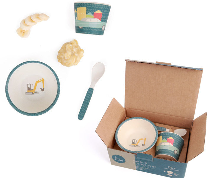 Love Mae Bamboo Baby Feeding Set Cars - STEAM Kids Brisbane