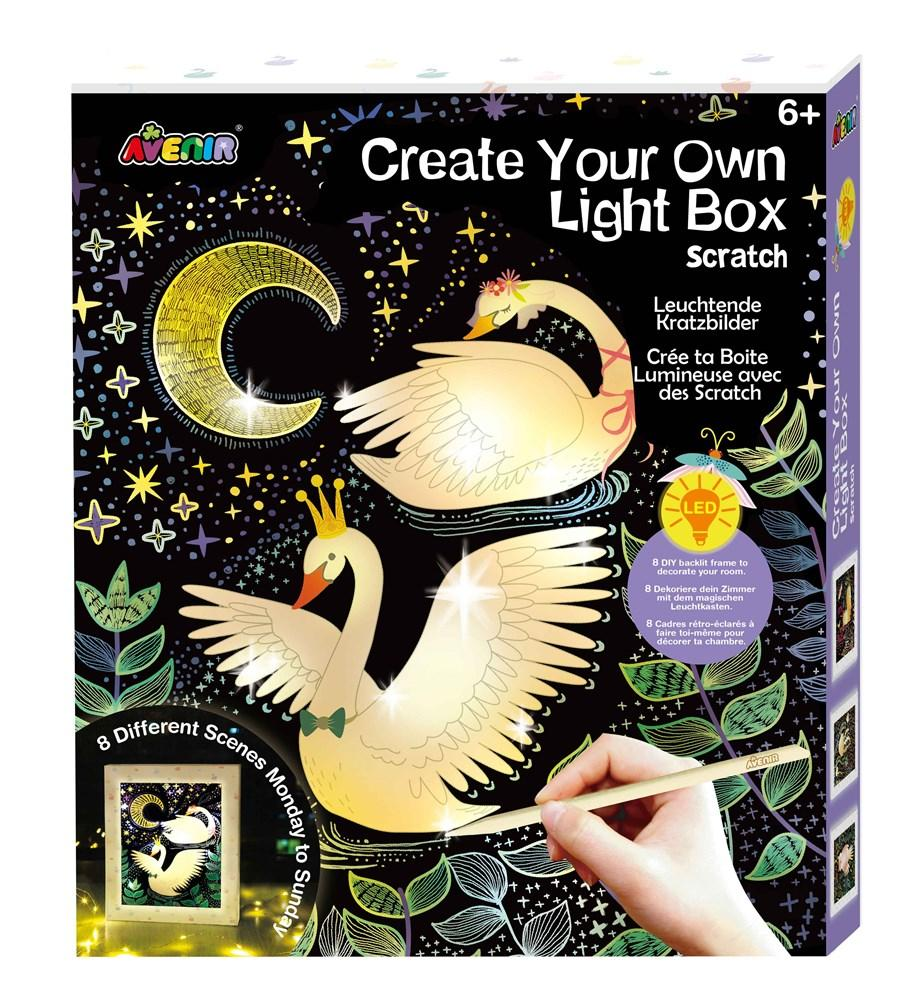 Avenir Scratch Art - Create Your Own Light Box Art - STEAM Kids