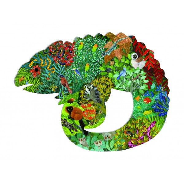 Djeco Puzzle Art Chameleon 150 piece - STEAM Kids Brisbane