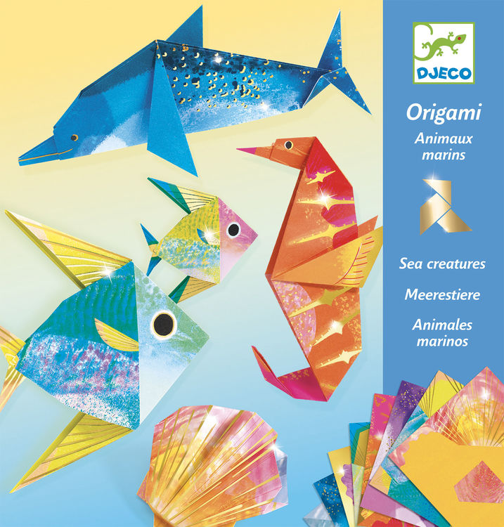 Djeco Origami Sea Creatures - STEAM Kids Brisbane