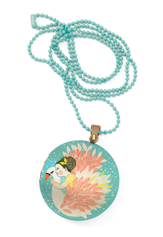 Swan Locket Necklace - STEAM Kids Brisbane