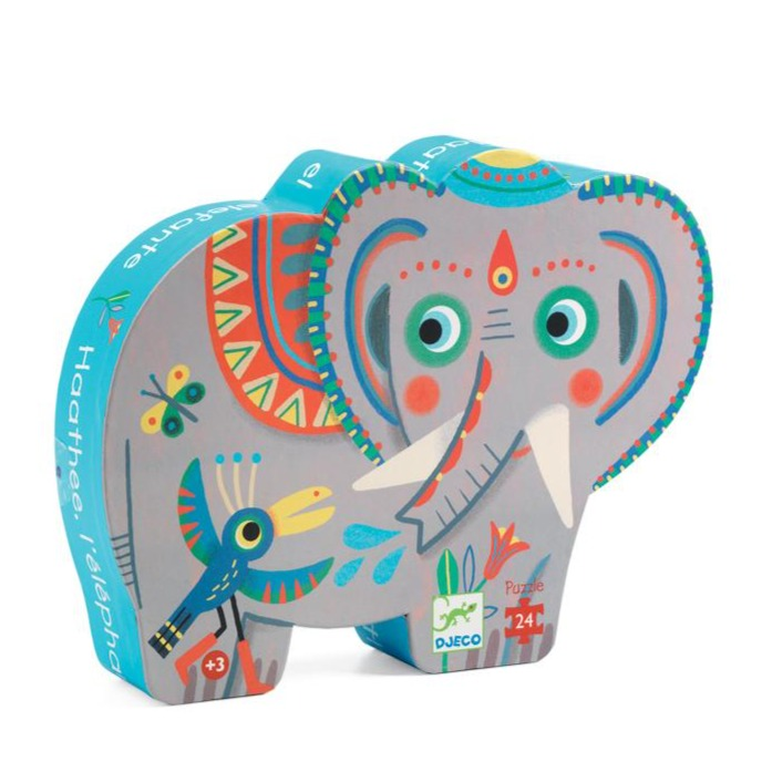 Djeco Haathee Asian Elephant |  24 Piece Silhouette Puzzle | - STEAM Kids Brisbane
