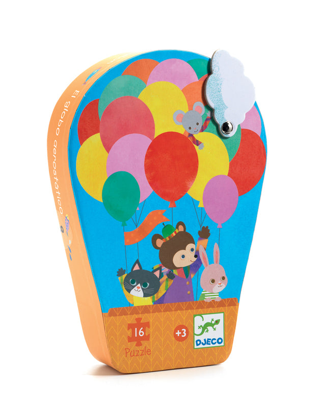 Djeco | The Hot Air Balloon |  16 Piece Silhouette Puzzle - STEAM Kids Brisbane