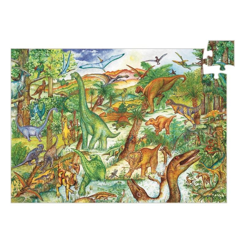 Djeco Dinosaurs Observation 100 Piece Puzzle - STEAM Kids Brisbane