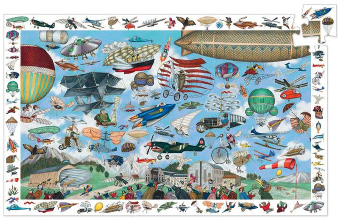 Djeco Aero Club 200 Piece Observation Puzzle - STEAM Kids Brisbane