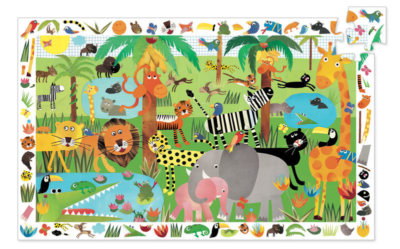 Djeco Jungle 35 Piece Observation Puzzle - STEAM Kids Brisbane