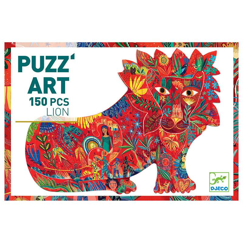Djeco Lion Shaped 150 Piece Art Puzzle - STEAM Kids Brisbane