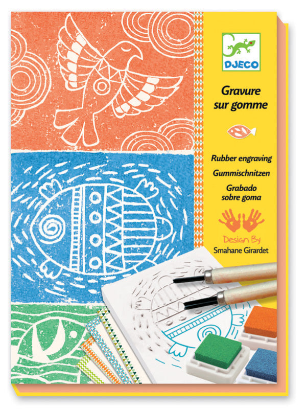 Djeco Rubber Engraving Stamp Kit - STEAM Kids Brisbane