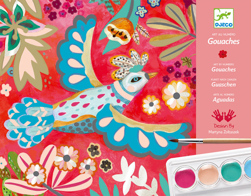 Djeco Melody Gouaches Painting Kit - STEAM Kids Brisbane