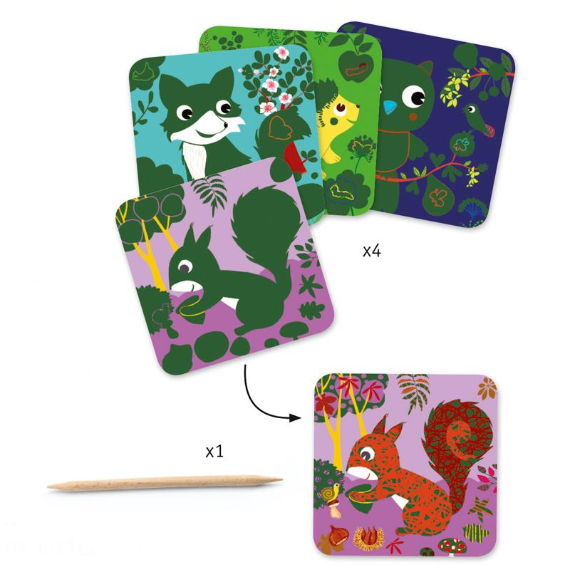 Djeco Scratch Cards Country Creatures - STEAM Kids