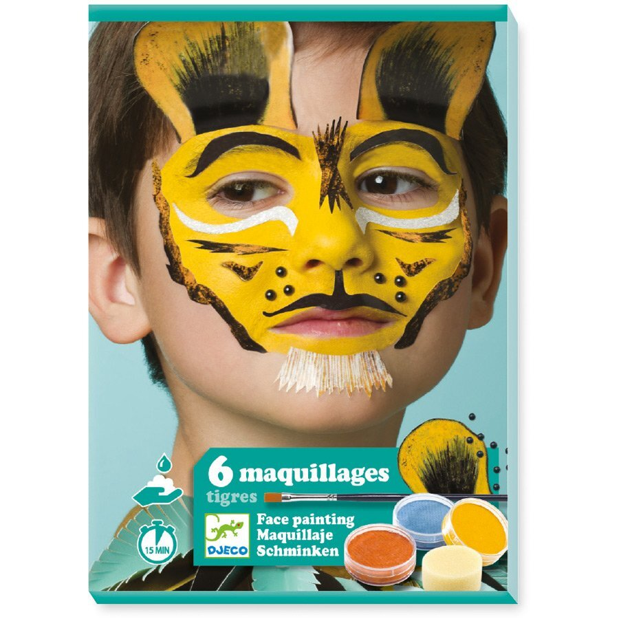 Djeco Tiger Face Painting Set - STEAM Kids Brisbane