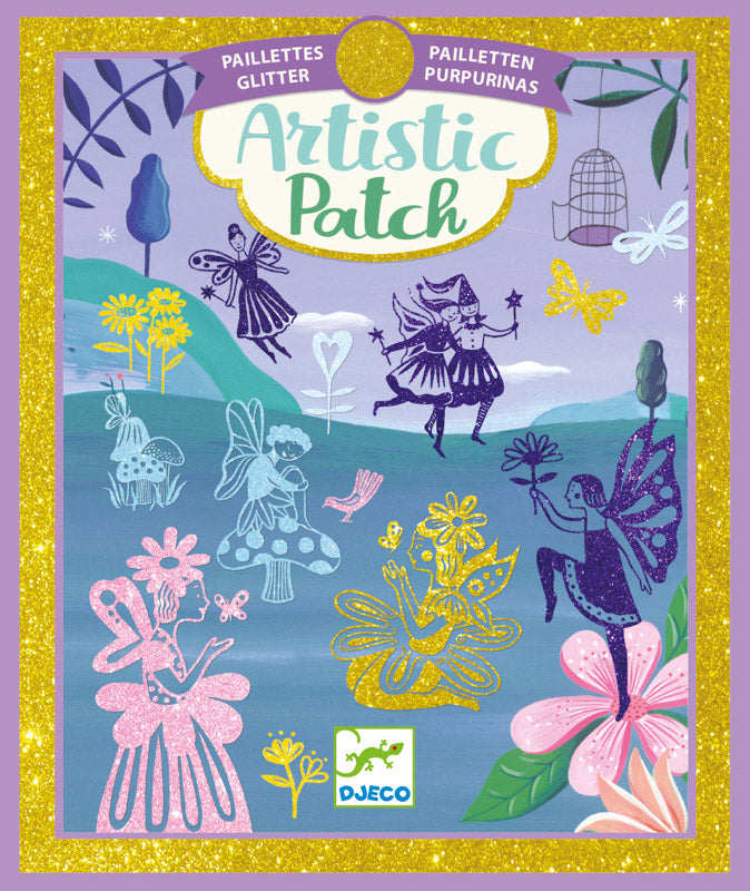 Djeco Artistic Patch Glitter Fairyland - STEAM Kids Brisbane