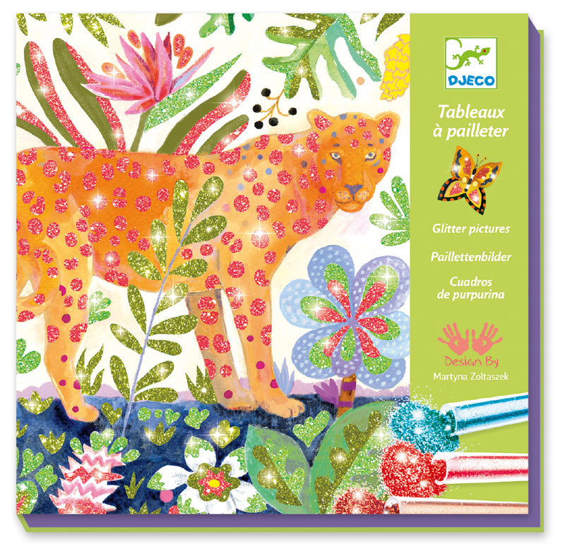 Djeco Tropico Glitter Board - STEAM Kids Brisbane